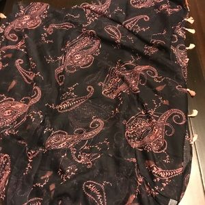 Black with pink paisley design scarf